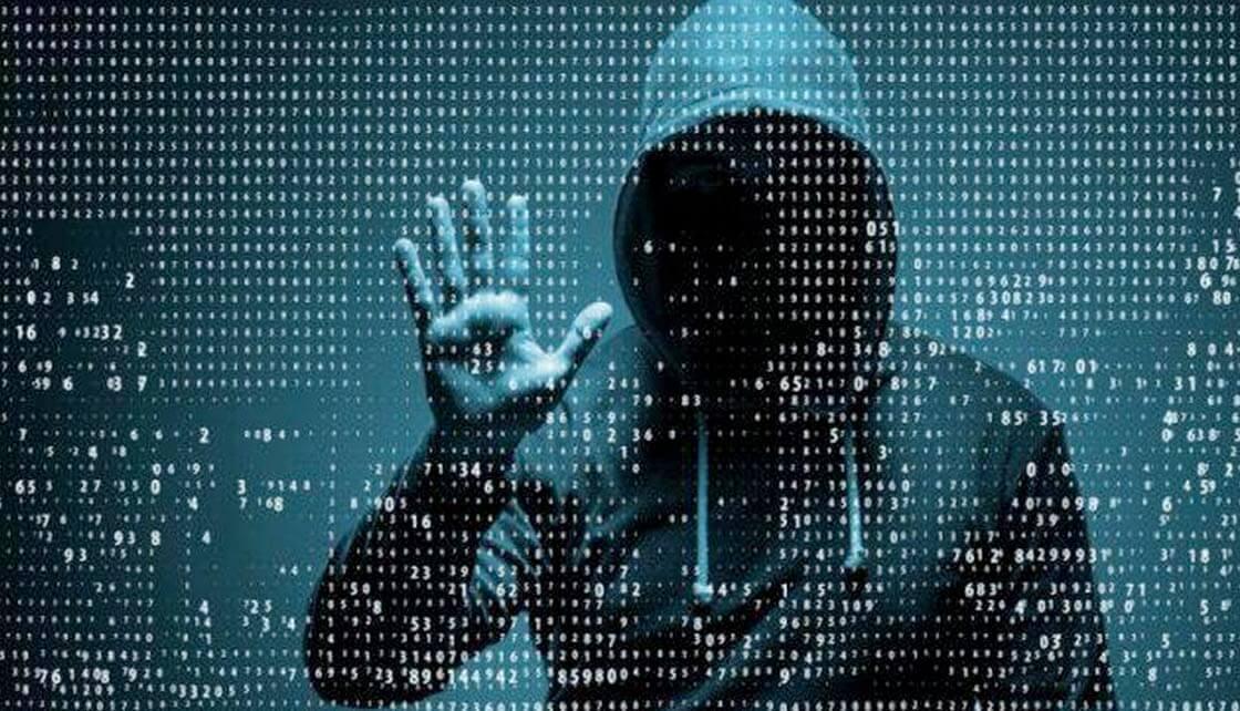 Hacker at a terminal
